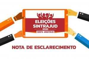 Eleições Sintrajud 2020: Nota de esclarecimento aos associados sobre o fornecimento de dados pessoais às chapas