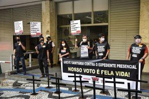 07/08/2020 – Mobilização pela defesa da saúde e dos direitos no TRE