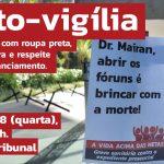 Ato-vigília contra o expediente presencial acontece às 13h desta 4ª em frente ao TRF-3