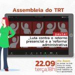TRT-2: Assembleia no dia 22 debate próximos passos da mobilização contra retorno presencial