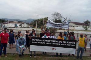 15/10/2020 – Ato em São Vicente contra a Reforma Administrativa