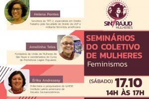 Coletivo de mulheres realiza seminário 'Feminismos' neste sábado, 17: inscreva-se