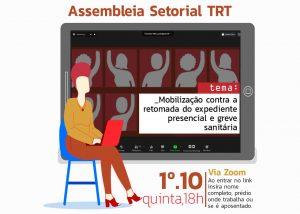 TRT: Setorial nesta quinta, às 18h, debate luta contra PEC das 'rachadinhas' e em defesa da vida