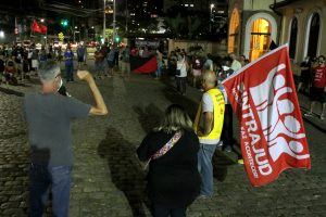 28/10/2020 – Ato em Santos, com servidores, contra a Reforma Administrativa do Bolsonaro