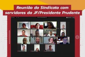 Servidores da JF/Prudente e Sindicato debatem teletrabalho, NS e PEC 32