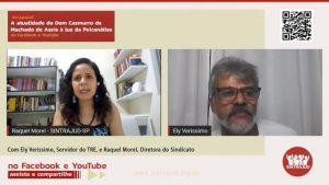 Live: Servidor afirma que Dom Casmurro demonstra olhar adoecido e preconceituoso da sociedade brasileira