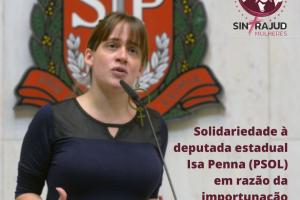 Coletivo de Mulheres repudia importunação sexual contra Isa Penna e se solidariza à deputada