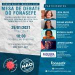 Fórum Social Mundial: 'Servidores e a defesa da vida e da democracia na pandemia' nesta terça (26)